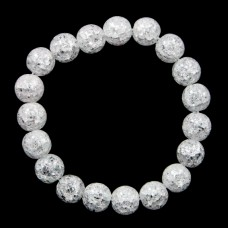 BJBS-098-01 Браслет Сахарный кварц 10мм, цвет белый