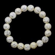 BJBS-098-02 Браслет Сахарный кварц 10мм, слоновая кость