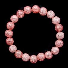 BJBS-098-03 Браслет Сахарный кварц 10мм, цвет розовый