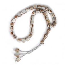 BJCH-026-2 Чётки мусульманские Пластик под кость 9мм, цвет серый