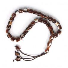 BJCH-026-3 Чётки мусульманские Пластик под кость 9мм, цвет коричневый