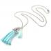 BJK001-BL Кулон Ангел-хранитель с цепочкой, цвет голубой