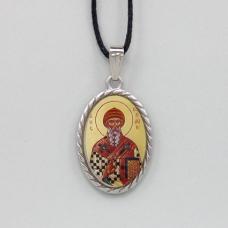 BJK003-01 Кулон / нательная икона св. Спиридон Тримифунтский, 2-сторонний