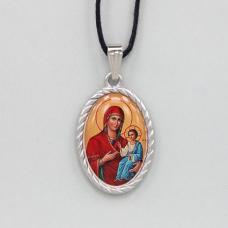 BJK003-04 Кулон / нательная икона Пресвятая Богородица с младенцем