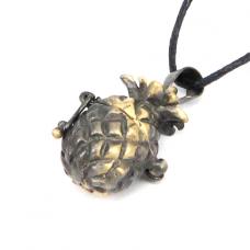 BJK007-09 Открывающийся кулон Ананас, цвет бронза, со шнурком