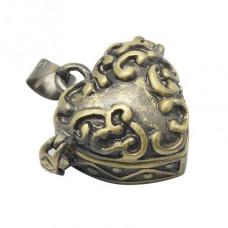 BJK017-13 Открывающийся кулон - шкатулка 24х21х10мм, металл, цвет бронзовый