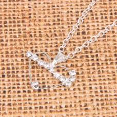 BJK079-03 Кулон со стразами с цепочкой Сердце