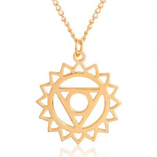 BJK111-5 Кулон с цепочкой Вишуддха чакра 3,8см, цвет золот.