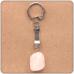 BK001 Брелок с натуральным камнем Розовый кварц