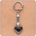 BK016 Брелок Сердце, гематит