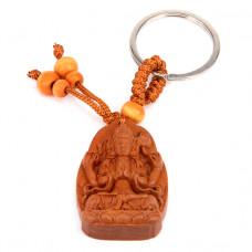 BK032-21 Брелок Будда, красное дерево