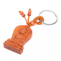 BK032-49 Брелок Будда, красное дерево