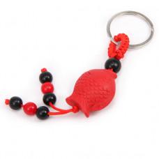 BK035-02 Брелок красный Карп, пластик