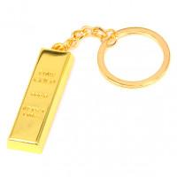 BK064 Брелок Слиток 42х14мм, металл, цвет золот.
