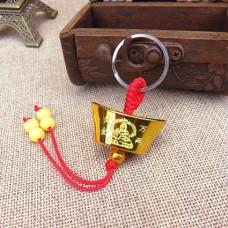 BK069-03 Брелок Золотой слиток, пластик