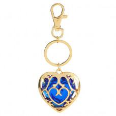 BK072-1 Брелок сердце 4х3,5см, цвет синий