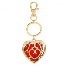 BK072-2 Брелок сердце 4х3,5см, цвет красный