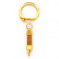 BKK01-G Кольцо для брелка / амулета с плоской цепочкой, цвет золот.