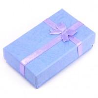 BOX001-1 Коробка для бижутерии универсальная 8х5см, голубая