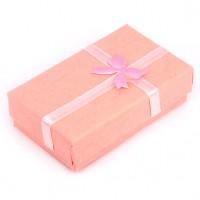 BOX001-2 Коробка для бижутерии универсальная 8х5см, розовая