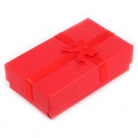 BOX001-4 Коробка для бижутерии универсальная 8х5см, красная