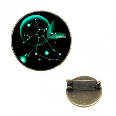 BR047-04 Значок d.2см Знаки Зодиака - Стрелец, цвет бронз.