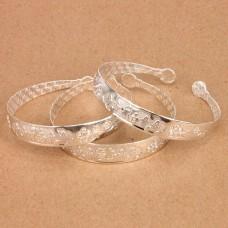 BS021-S Этнический браслет, металл, цвет серебр.