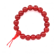BS028-03 Буддистский браслет 10мм бордовый, пластик