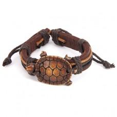 BS037-08 Браслет Черепаха, натуральная кожа