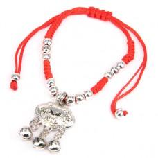 BS062 Плетеный браслет из красной нити Талисман Долголетия
