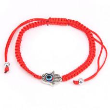 BS063 Плетеный браслет из красной нити От сглаза