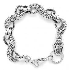 BS081-2-S Браслет Змея, металл, цвет серебр.