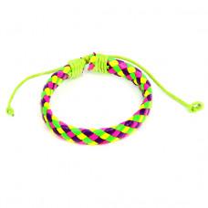 BS089-01 Плетёный кожаный браслет, 4-х цветный