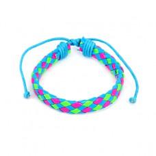 BS089-02 Плетёный кожаный браслет, 3-х цветный