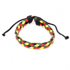 BS089-04 Плетёный кожаный браслет, 4-х цветный