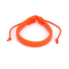 BS089-06 Плетёный кожаный браслет, оранжевый