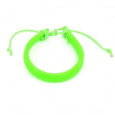 BS089-07 Плетёный кожаный браслет, салатовый