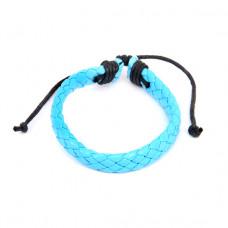 BS089-08 Плетёный кожаный браслет, голубой