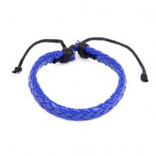 BS089-10 Плетёный кожаный браслет, синий