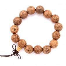 BS093 Чётки - браслет из дерева венге 15мм