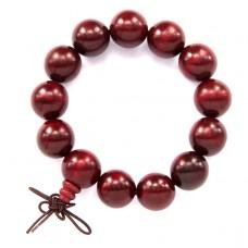 BS094 Чётки - браслет из красного дерева 16мм