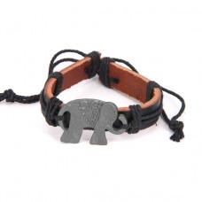 BS116-1 Кожаный браслет Слон