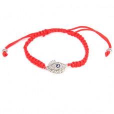 BS119 Плетёный браслет из красной нити От сглаза