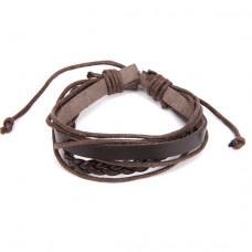 BS126-1 Кожаный браслет, цвет коричневый
