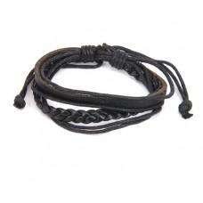 BS126-2 Кожаный браслет, цвет черный