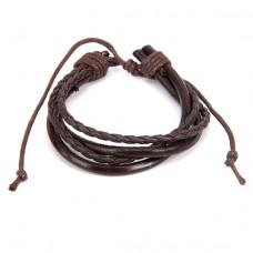 BS128 Кожаный браслет, цвет коричневый