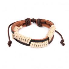 BS129 Кожаный браслет с веревкой