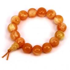 BS141-1 Буддийский браслет - чётки 13мм, акрил, цвет оранжевый