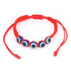 BS151 Плетёный браслет из красной нити От сглаза (Назар)