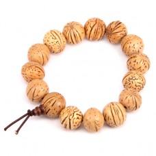 BS156 Браслет - чётки из натуральных персиковых косточек 15-17мм